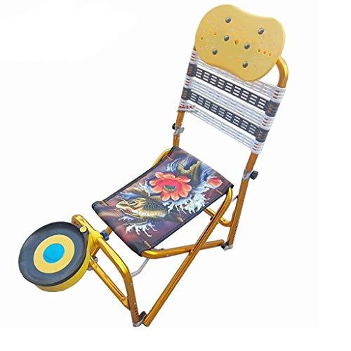 Chaise avec Plaque De Pêche Chaise Pliante en Plein Air Chaise De Pêche Tabouret De Pêche Portable (Color : Black)