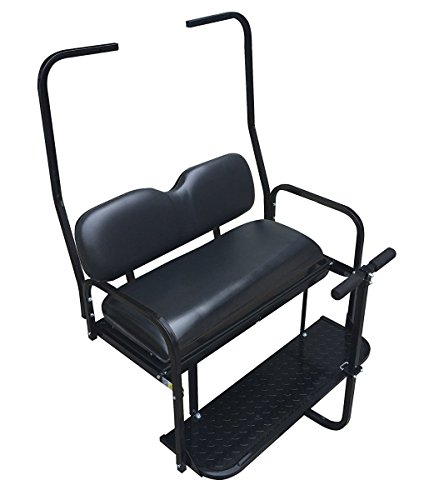 Performance Plus Carts Club Car DS Golf Cart Rear Flip Back Seat Kit for 1982-2000.5 - Black