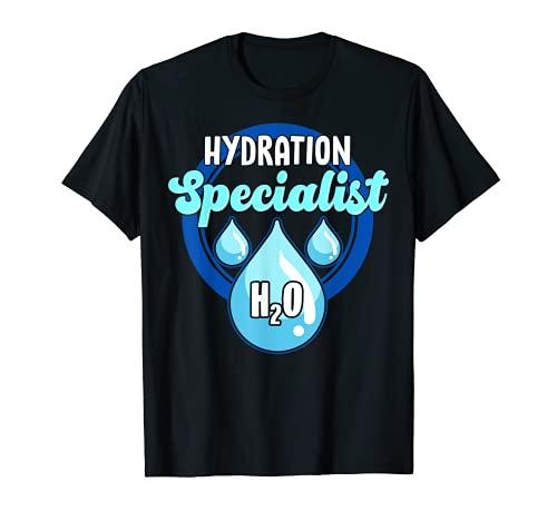 Water Hydrate H2O Bebedero de agua divertido especialista en hidratación Camiseta