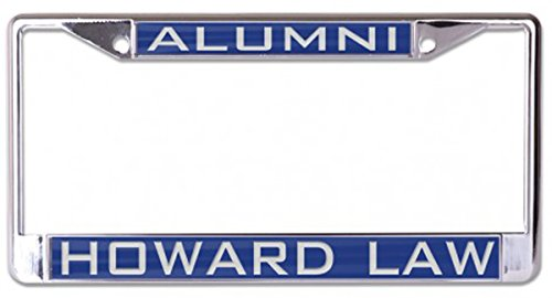 WinCraft Howard Law Alumni Premium License Plate Frame, Metal with Inlaid Acrylic, 2 Mount Holes, Blue