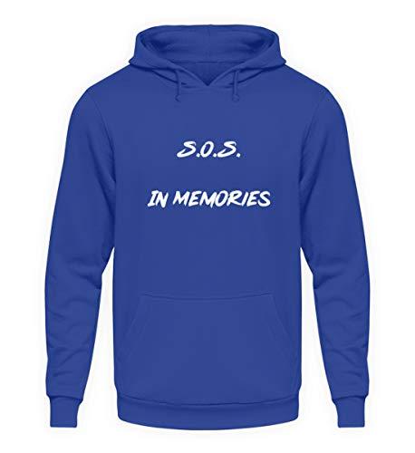 SOS In Memories Fan Design Lied Song pour homme et femme Pour toutes les occasions – Sweat à capuche unisexe -  Bleu -  XXL