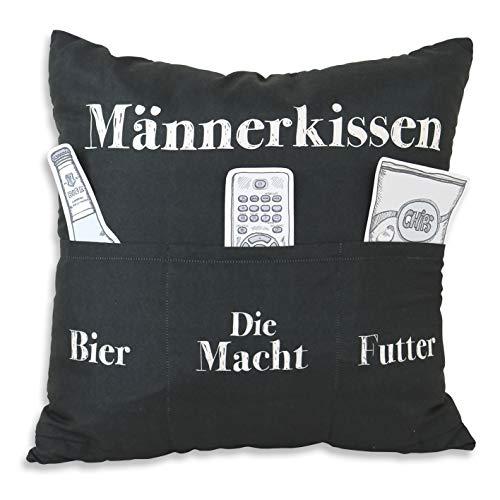 HERGO Kissen m.Taschen Männerkissen