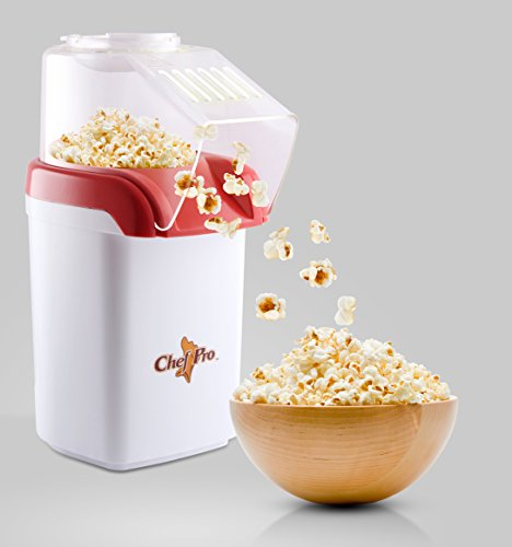 Chef Pro CPM093 1200-Watt Popcorn Maker (Red/White)