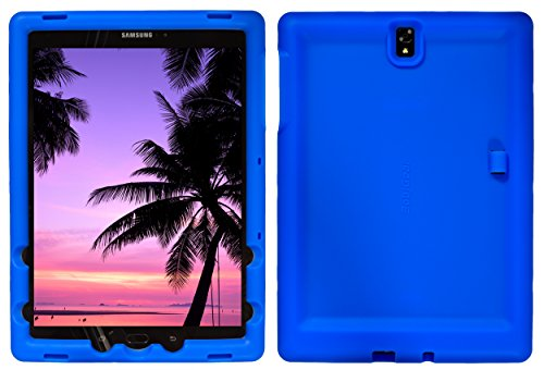 Bobj Rugged Case for Samsung Galaxy Tab S3 9.7, SM-T820, SM-T825 - BobjGear Custom Fit - Patented Venting - Sound Amplification - BobjBounces Kid Friendly (Batfish Blue)