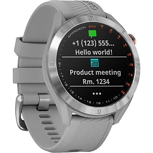 Fantastic Deal! Garmin Approach S40 Golf Watch (Stainless Steel/Powder Gray Band) - (010-02140-00) w...