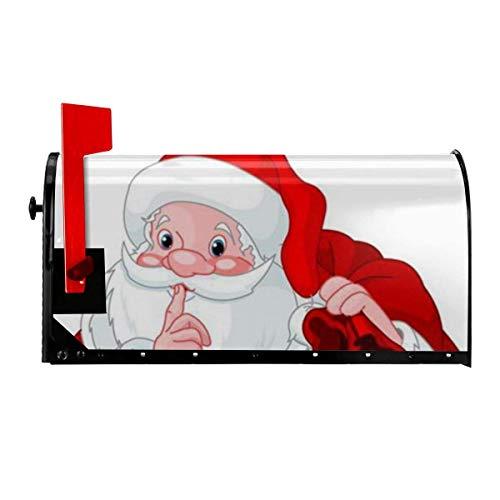Odeletqweenry Kerstman met Zak Print Postbus Cover Magnetische Postbus Wraps Brievenbus Doos Cover Standaard Grootte 21 x 18 Inch Waterdichte Canvas Postbus Cover