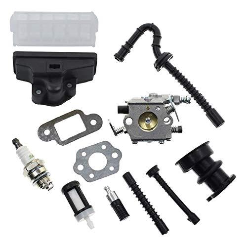 Kit de filtro de aire de carburador para STIHL 021 023 025 MS210 MS230 MS250 250 MADRADOS MADUSOW 1123 120 0605, 1123 160 1650 (Color : Silver)
