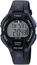 Timex Men's T5H591 Ironman Classic 30 Full-Size Black/Blue Resin Strap Watch