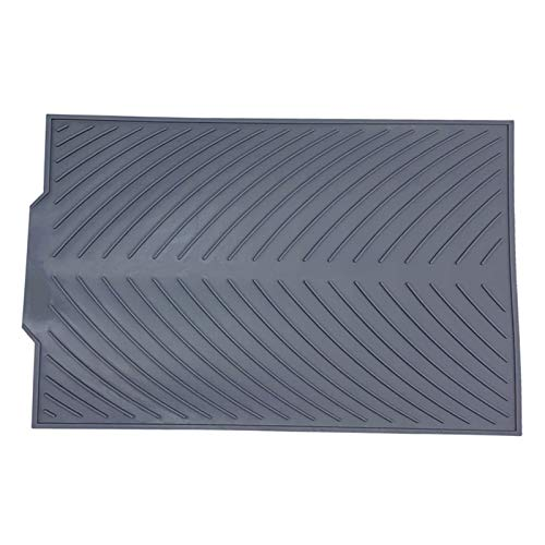 HSYSA Silicone Drain Pad Drying Mat Pots For Kitchen Non-slip Pans Drain Mats Anti-scald Coaster Kitchen Utensils (Color : Light Grey)