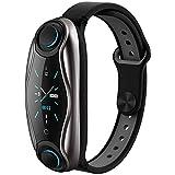 LTLJX Smartwatch mit kabellosen Bluetooth-Ohrhörern, Bluetooth-Headset, Smart-Armband 2-in-1,...