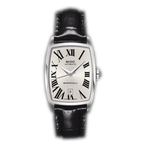 MIDO Baroncelli Tonneau M0031071603300 - Reloj de Mujer automático, Correa de Piel Color Negro