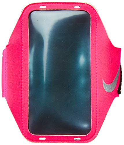 Nike Erwachsene Lean Armband, Hyper pink/Black/Silver, OSFM