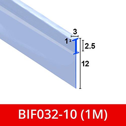 Weich Klar Flexible Gummi T Duschdichtung   für Bi zusammenklappbar Türen   passt in einen 3mm Kanal   bif032