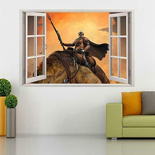Yxsnow 3D Pegatinas de pared programa de televisión de ventana Extraíble Agujero en la pared Vinilo Decorativo Pegatinas Vista de Efecto Adhesivos De Pared