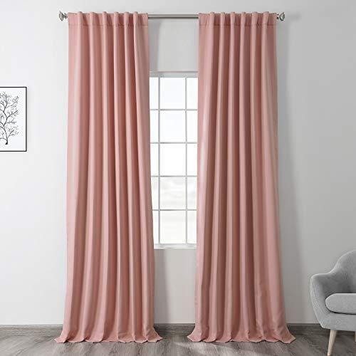 HPD Half Price Drapes BOCH-171120-96 Blackout Room Darkening Curtain (1 Panel), 50 X 96, Taffy Pink