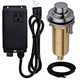 Product Image of the SINKINGDOM SinkTop Air Switch Kit with Brushed Nickel Long Button (Full Brass) for Garbage Disposal, Single Outlet
