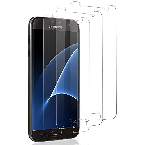 Verre Trempé pour Samsung Galaxy S7 Protection d'écran, [3 pièces] Dureté 9H Glass, sans Bulles d'air,UltraTransparent, Film Protection Écran Protecteur Vitre pour Galaxy S7