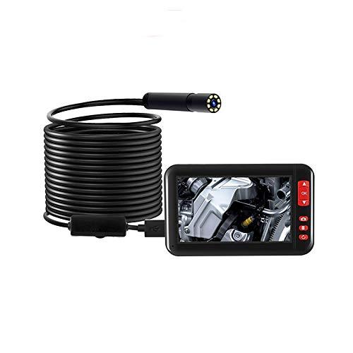 XIANNVV Endoscopio, Endoscopio Coche 8 Mm USB CáMara De Tubo De InspeccióN De Boroscopio De Alta DefinicióN con Pantalla De 4,3 Pulgadas