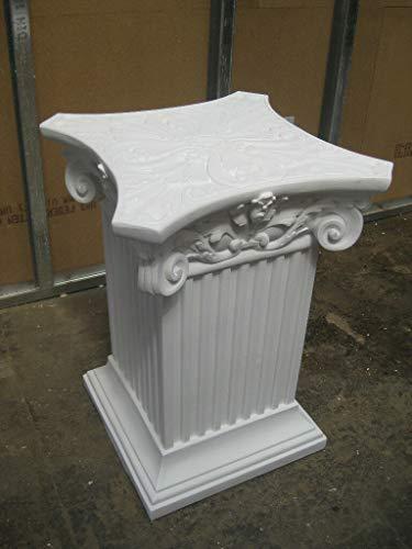 Kunibert Columna de flores decorativa, pedestal, altura de 78 cm, ancho de...