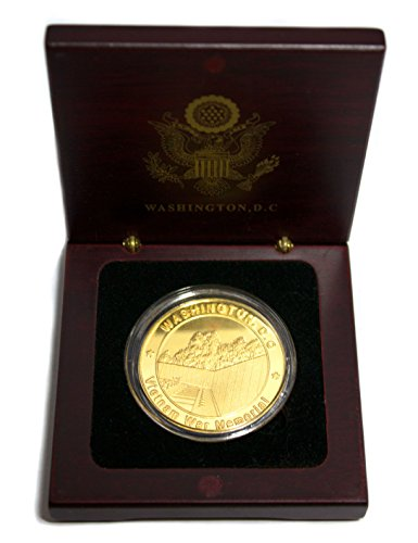 President Souvenirs Vietnam War Memorial Coin in Wood Box