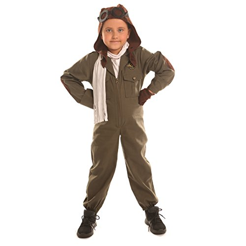 Disiao Air Force Pilot Costume for Little Boy Halloween Suits Cosplay (M)
