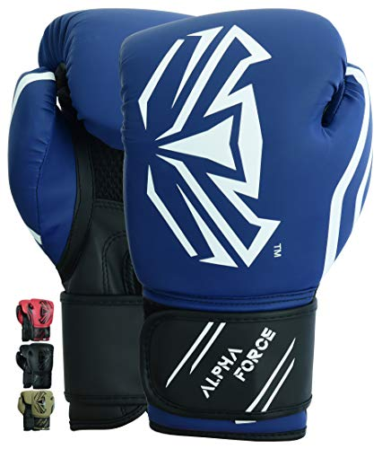 ALPHA FORCE 3.0 Boxhandschuhe Training Sparring Männer Frauen (Matte Blue, 12 oz)