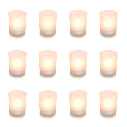 pajoma Teelichtgläser Glas für Teelichter Votivglas (Glas Satiniert)