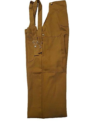 WSC Workwear Khaki Bib and Brace Dungarees (Large)
