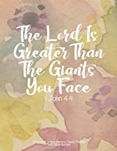 The Lord Is Greater Than The Giants You Face - 1 John 4:4: 2019-2021 3 Year Monthly Yearly Planner with Bible Quotes, Letter size 8.5 x 11 inches, ... Form Great Habits using this Calendar Journal
