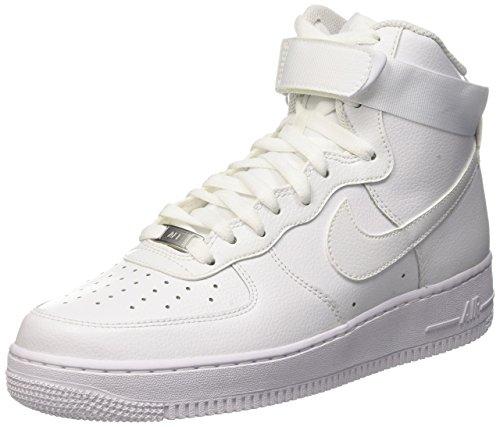 Nike Men's Air Force 1 High '07 Basketball Shoe White/White 11