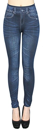 dy_mode Thermo Leggings Damen/Thermo Jeggings mit Innenfutter Teddyfleece Damen Thermo Leggins - Gr. 36-42 - WL020-023 (36/38 - S/M, WL022)