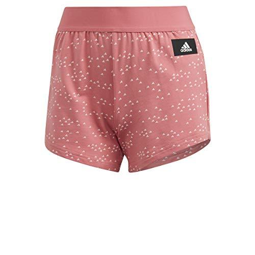 adidas W Win Short – Pantaloncini da Donna, Donna, Pantalone Corto, GQ6067, Rosa (Rosbru), XL