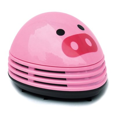 niceEshop(TM Mini Aspirateur à Table Alimenté par Batterie en Forme de Cochon Rose