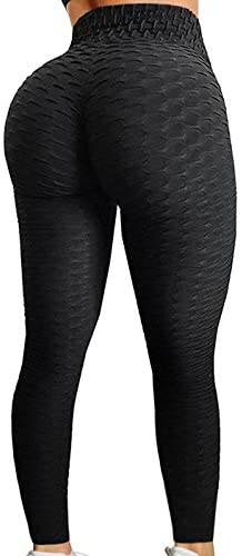 A AGROSTE Women s High Waist Yoga Pants Tummy Control Workout Ruched Butt Lifting Stretchy Leggings product image