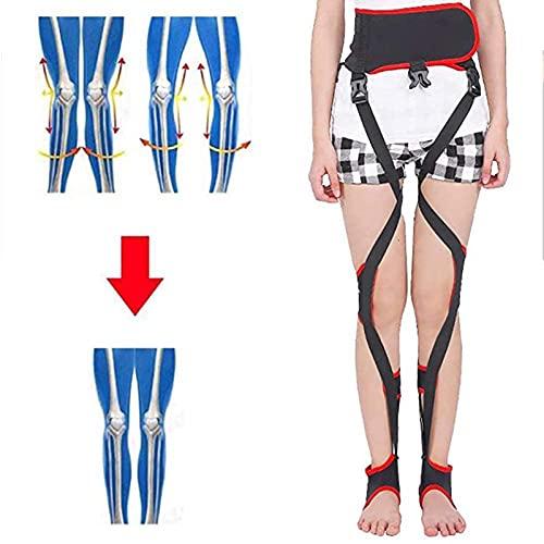 SHENXIAOMING O/X-Typ Knock Kniebandage, Verstellbare Beinkorrektur Bogenbeine Unisex O/X Haltungskorrektur Gürtel Wiederherstellung Schönheit Glätten Bein Für Erwachsene, L