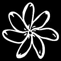 素敵なステッカー 15cm X 14.9cmの花ファッションビニールカースタイリング車のステッカーブラック/シルバー 車のステッカー (Color : White)