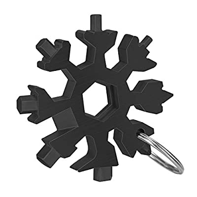 Snowflake Multitool,18-in-1 stainless steel snowflake-tool includes Snow Bottle Opener/Flat Phillips Screwdriver Kit,EDC Snowflake tool Durable and Portable to Take,Great Gift for you
