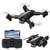 rzoizwko Drone, Drone Plegable GPS FPV con cámara HD de 6K Video en Vivo para Principiantes, Quadcopter RC con GPS Return Home, Sígueme, Control de Gestos, Circle Fly, Auto Hover y Transmisión WiFi 5