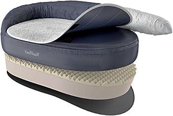 Knuffelwuff Panier orthopédique pour chien lit pour chien Jessy gris 120 x 75cm