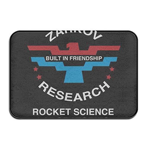 XJ-JX Zarkov Researh Rocket Science Latories Flash Gordon - Felpudo de 40,6 x 60,9 cm, absorbente de agua, de bajo perfil, alfombrilla antideslizante para puerta grande