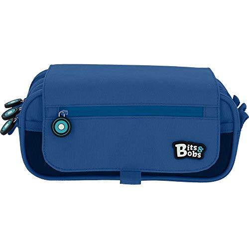 Grafoplás Bits & Bobs, Estuche Escolar Triple con Solapa, 23 cm, Azul