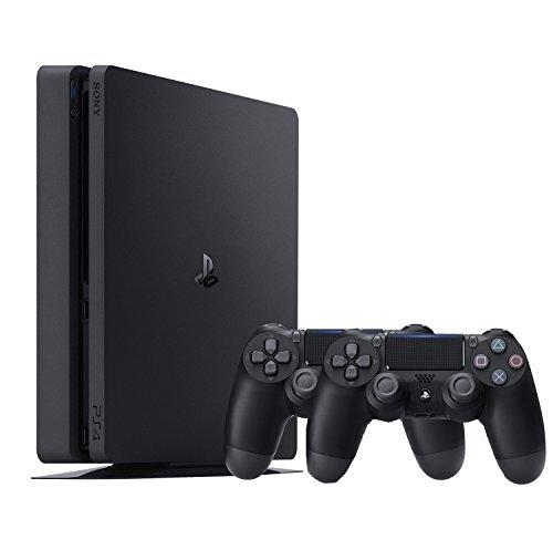 PlayStation 4 (PS4) - Consola De 500 GB, Color Negro + 2 Mandos Inalámbricos DualShock 4 [Importación Alemana]