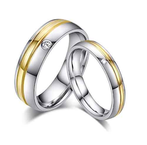 DRG Gioielli Fedine Fidanzamento Coppia Acciaio Matrimonio Incisione Personalizzata Oro Rosa Anello Semplici Nuziali FEDI (con Inciisoni)