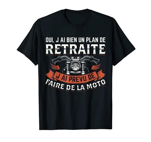T-shirt Motard Homme Moto Retraite Cadeau Motorcycle Motards T-Shirt