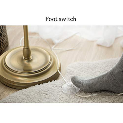 WYZ. Retro vloerlamp LED woonkamer eenvoudige moderne Amerikaanse Country Study slaapkamer slaapkamer Europese vloerlamp brons lamp geweven lampenkap