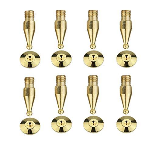 スパイク受け スパイク インシュレーター スピーカー パーツ オーディオ用品 金メッキ 音質 真鍮 アップ ノイズ防止 8個セット