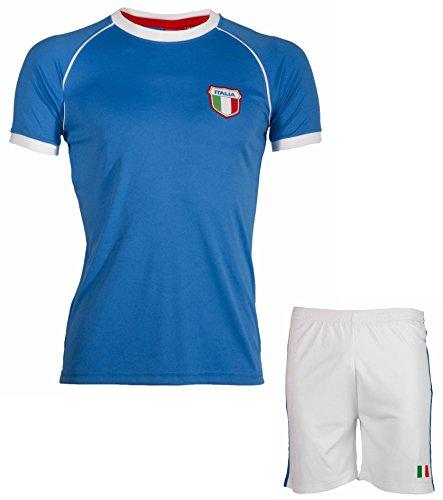Son Collection–Short + camiseta Italia–talla infantil Azul azul Talla:8 años