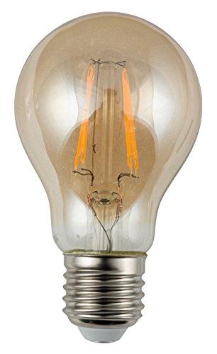 HEITRONIC LED Leuchtmittel E27 Vintage Filament A60 A60 6W Retro-Look