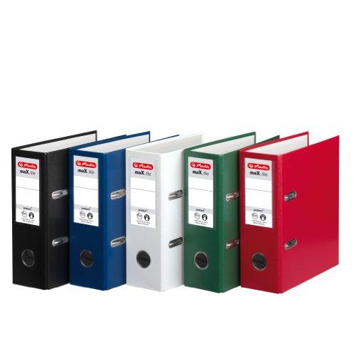 Herlitz 5275003 Ordner maX.file protect A5 hoch, FSC Mixed (Farben sortiert) , 1 Stück