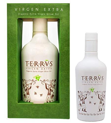TERRVS Aceite de Oliva Virgen Extra Aceite Orgánico Ganador de 5 Premios Mundiales Aceite premium Gourmet Olive Oil ecológico eco de olivas Premium 500 ml
